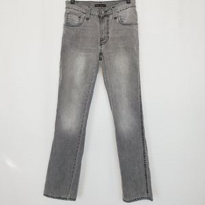 Nudie Slim Jim In Gray Black Used Jean 30X32